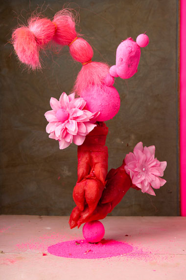 Pink photo-sculpture #1 from the Dalston Anatomy series, 2013 © Lorenzo Vitturi / Giclee print mounted on wood, timber, fabric, 48x33x8 cm
