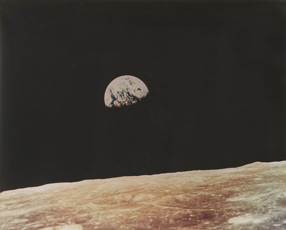 NASA, Earthrise, Apollo 8. 1968 Vintage chromogenic print, 39.6 x 49.7 cm (40.6 x 50.6 cm) Estimate € 4,500