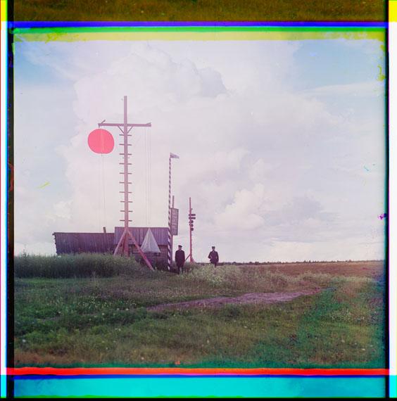 Procoudine-Gorsky Sergeï Mikhaïlovitch, 1863-1944[Juillet-Août 1909] – Tour de signal du village de Bourkovo© Library of Congress, Procoudine-Gorsky Collection/Famille Procoudine-Gorsky