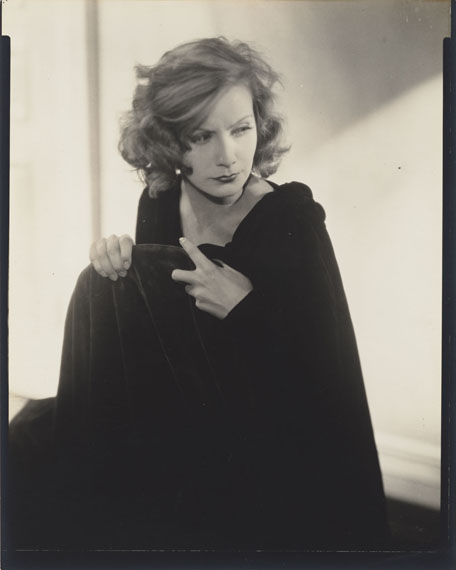 Edward SteichenGRETA GARBO, HOLLYWOOD.1928Vintage. Gelatin silver contact print. 95/8x71/2in. (10x8in.). On the reverse inscribed in pencil by various hands.