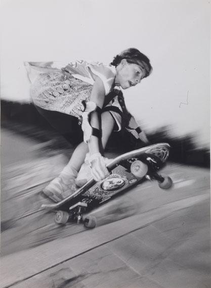 Barbara WüllenweberBackside Grab, Skatepark Liege, Belgium, 1989Vintage gelatin silver print28 x 20,2 cm© Barbara Wüllenweber, courtesy of Feroz Galerie