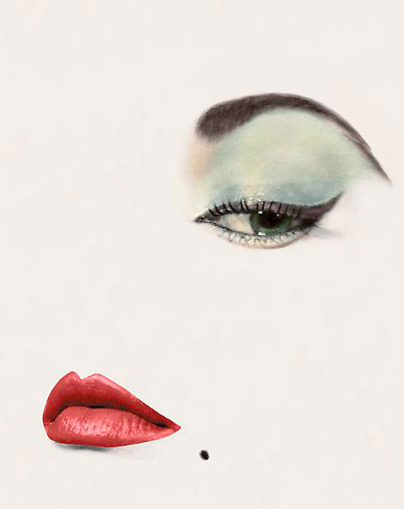 Erwin Blumenfeld: Doe Eye, Jean Patchett, Vogue, New York, 1 January 1950 (from Vive L'Amerique ! portfolio, 2013)
