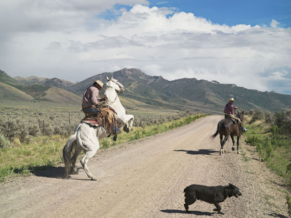 Casey and Rowdy Horse Training, 71 Ranch, Deeth, Nevada 2012 © Lucas Foglia