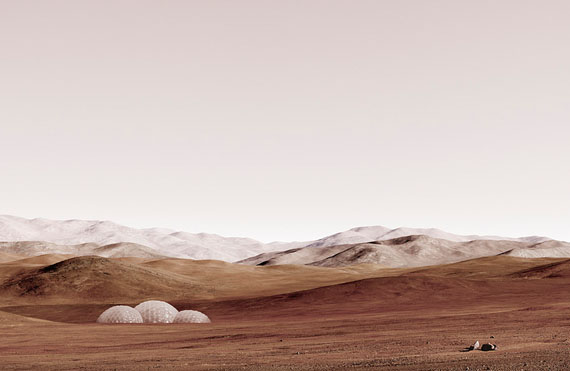 "Michael Najjar: ""sands of mars"", 2014, 132 x 202 cm 