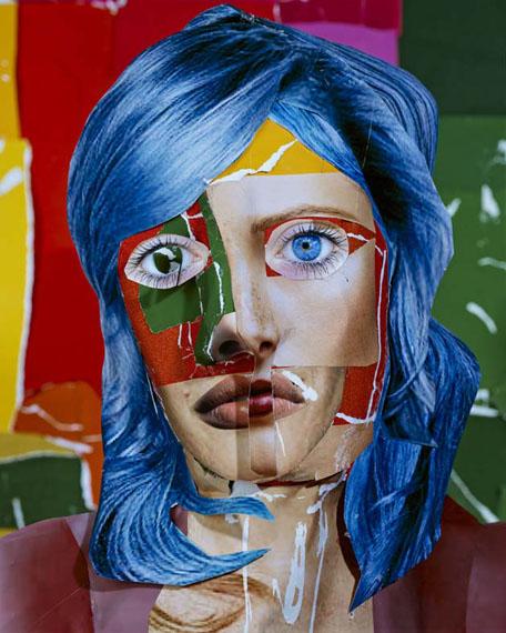 portrait with blue hair 2013 © daniel gordon