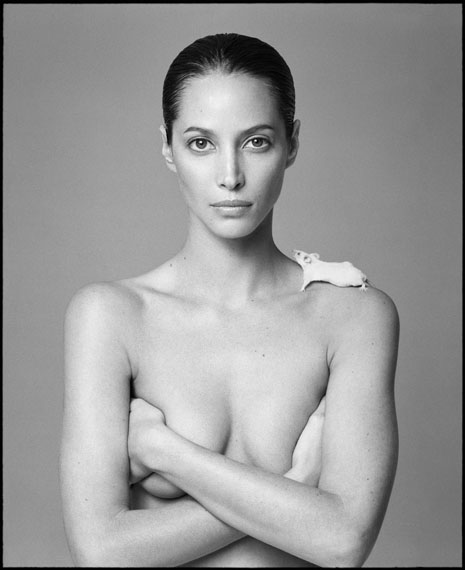 © PATRICK DEMARCHELIER, CHRISTY AND MOUSE, 1999
