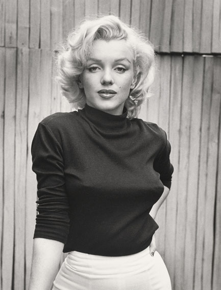 Lot 1ALFRED EISENSTAEDT (1898 – 1995)Marilyn Monroe, Hollywood, 1953gelatin silver print, printed 1979signed and numbered '15/50 in ink (margin, recto), titled and dated in pencil in 'Time' credit stamp and copyright credit stamp (verso)image: 31.5 x 24cm. (12 3/8 x 9 3/8in.)sheet: 35.2 x 27.7cm. (13 7/8 x 10 7/8in.)This work is number 15 from the sold out edition of 50.£10,000 – 12,000