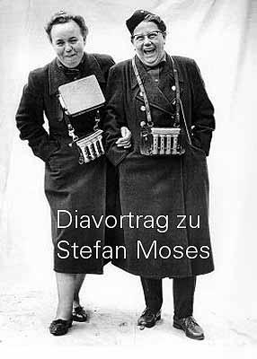 Stefan Moses . Diavortrag zur Retrospektive im Fotomuseum . Matthias Harder (Kurator)