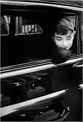 Audrey Hepburn on the set of 'Sabrina', 1954
