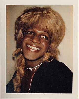 Ladies and Gentlemen (Marsha Johnson) 1974, Polacolor Type 108, 10,8 x 8,6 cm