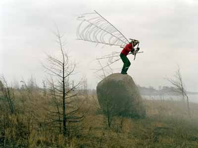 "Janne Lehtinen . ""Fly"" from the serie Sacred bird, 2003 Chromogenic C-print, 75 x 100 cm Edition 1/5"