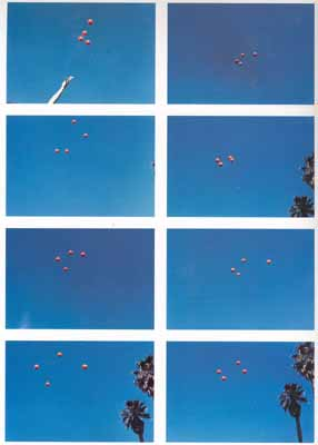 Throwing Four Balls in the Air to Get A Square (Best of 36 Tries), 1974, 8 Farbfotos, je 24,1x34,9 cm © Museum für Gegenwartskunst, Basel