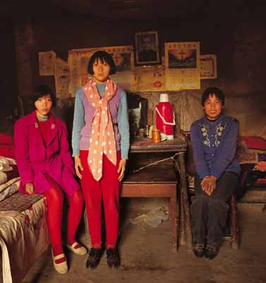 Zhang Qunzi and Her Two Daughters , Mengjin County, Henan, 1996 , © Jiang Jian