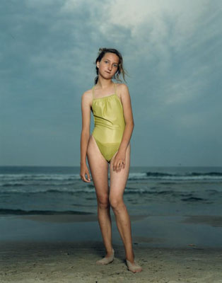 """Kolobrzeg, Poland, July 26, 1992,"" from Beach Portraits, 1992, © Rineke Dijkstra"