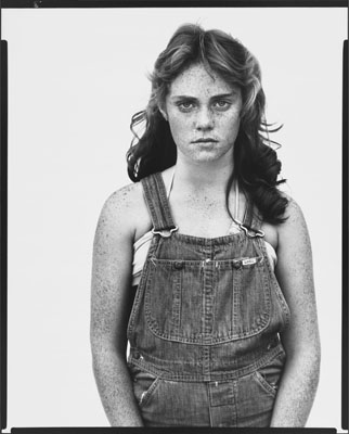 Richard Avedon, Sandra Bennett, twelve year old, Rocky Ford, Colorado, August 23, 1980, © 1980 The Richard Avedon Foundation. Courtesy The Richard Avedon Foundation.