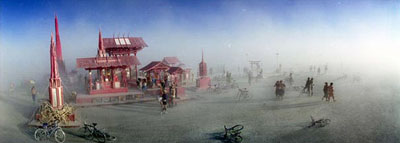 PAOLO PELLIZZARI , Burning Man, USA/Nevada 2005 , Color C-Print - Size 100 x 35 cm - Edition of 10 , Color C-Print - Size 125 x 50 cm - Edition of 10