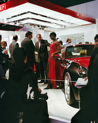 Jacqueline Hassink, Ferrari girl 1, Detroit, Car Girls, Michigan, USA, 8 January 2006