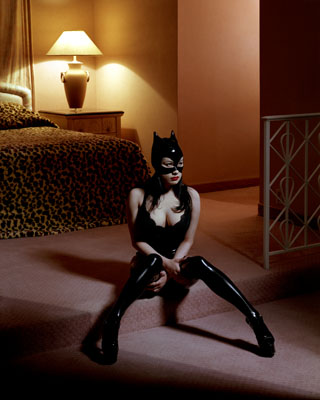 Albert Watson, Miss Beehayving, Breaunna/Cat Mask, courtesy of Hamiltons Gallery