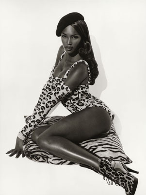© Herb Ritts, Naomi Seated, Hollywood, 1991