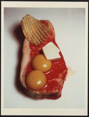 Irving Penn, Cholesterol's Revenge, New York, 1984 © 1995 by Irving Penn,courtesy of Hamiltons Gallery
