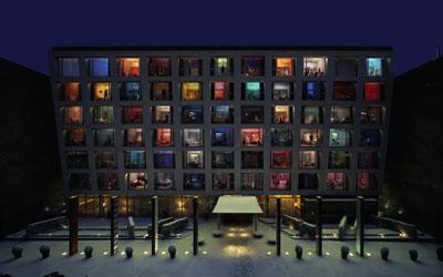 Saturday Night, 2007 – 198 x 300 cm C-Print, diasec, framed © In Sook Kim