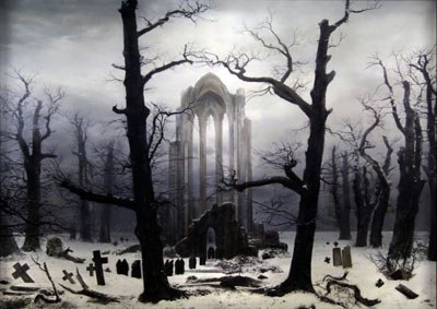 Hiroyuki MasuyamaThe Lost works of Caspar David Friedrich, 2007-2008Series of 5 light boxesInstallation view at Sharjah Art MuseumCommissioned and produced by Sharjah Art FoundationPhoto by Alfredo Rubio