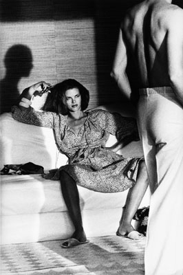 HELMUT NEWTON, Woman Examining Man, Saint Tropez, 1975, courtesy of Hamiltons Gallery