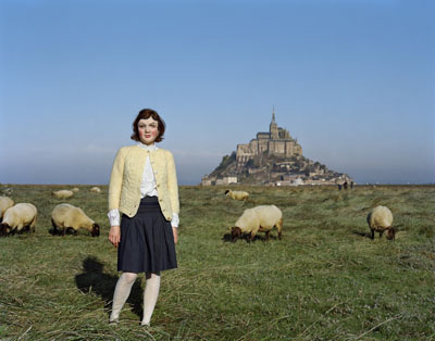 Mont Saint-Michel, France  , © Ofer Wolberger courtesy Michael Hoppen Contemporary, C-type print