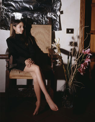 Clegg & Guttmann. Portrait of a Young Woman with Flowers 2005