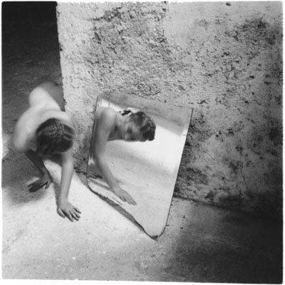Francesca Woodman, Self-Deceit #1 I.204, Rome Italy 1978, gelatine silver print