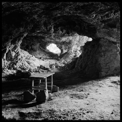© Daniel Schwartz, Ancient Silver Mine, Lavrion, Attica. Greece, 1978, Vintage gelatin silver print, 19.9 x 19.9 cm, Edition of 2