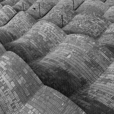 Manfred Hamm, Shedhallendächer der Wollweberei, Aymerich, Amati, Jover, Terrassa, Catalunya, 1986, Fotografie, I/III, 178 x 146 cm
