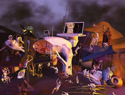 Destruction, Ausschnitt aus Microcosm, 2008, C-print © Miao Xiaochun