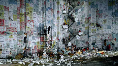 Wang Qingsong Competition 2004, c-type print, 170 x 300 cm. Courtesy the artist