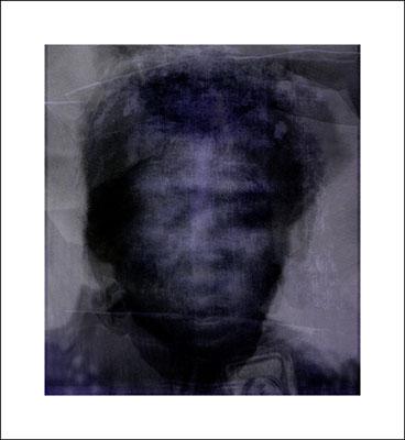 Tobias Trutwin, visage, approx. 52 cm x 48 cm, glas, 1994/2001