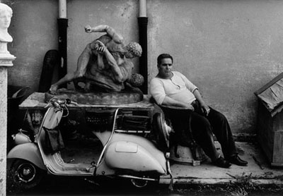 © William Klein: Rome, Cinecittà, 1956. Silver gelatin print