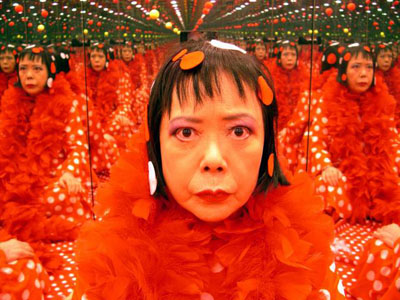 Yayoi KusamaFilm Images with Kusama Singing 2004 (video still)video installation, 3 minsCourtesy Ota Fine Arts, Tokyo© the artist, Yayoi Kusama Studio Inc.