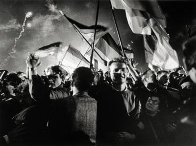 Barbara Klemm, Tag der deutschen Wiedervereinigung, Berlin, 3. Oktober 1990, DHM
