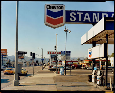 Stephen Shore, La Brea Avenue and Beverly Boulevard, Los Angeles, California, June 21, 1975, © Stephen Shore, courtesy the artist and Edwynn Houk Gallery