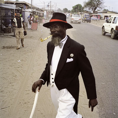 "Francesco Giusti, ""Bonga Bonga"" from the Series Sapologie, Pointe-Noire, Congo, 2009mounted on aluminium, 100x100 cm© Francesco Giusti"