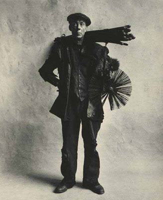 "Irving Penn, ""Chimney Sweep"", London, 1950 , © by Condé Nast Publications, Ltd."