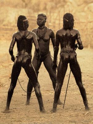 Leni Riefenstahl, Dance of Love, Nuba Tribe, Sudan, 1975-6