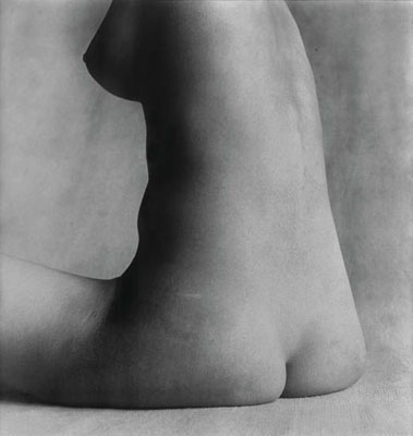 "Lot 81: Irving Penn, ""Nude #17, New York,"" silver print, 1949-1950; printed 1980. Estimate: $25,000 to $35,000."