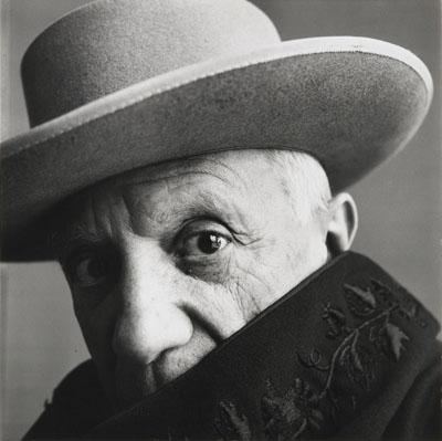 "Lot 1098 Irving Penn (1917 New Jersey, USA - 2009 New York, USA).""Picasso"". 1957. Vintage. Gelatinesilberabzug vor 1960. Originalrückkarton. 33,1 x 33,2cm. Schätzpreis: $ 30.580 / € 22.000"