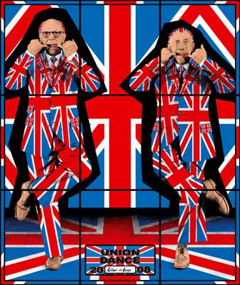"Gilbert & George: Union Dance, Aus der Serie ""Jack Freak Pictures"", 2008 © Gilbert & George"