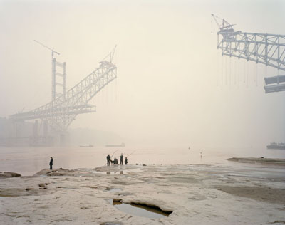 "Nadav Kander: ""Chongqing XI""(2007) C-Print. 75cm x 100cm - Edition of 5; 100cm x 125cm - Edition of 5; 120cm x 150cm - Edition of 3."