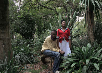 Lebo and Ntombe, Company Gardens, Cape Town. ©Lien Botha, Parrot Jungle 2009