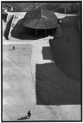 "© Henri Cartier-Bresson /Magnum Photos, ITALY. Tuscany. Sienna. 1933. ""I was visiting the museum and happened to look out of an upstairs window, and saw this empty marketplace, stark in its lack of activity."""