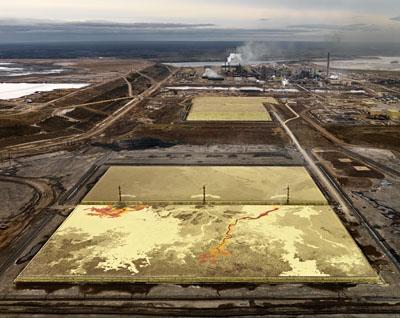 Edward Burtynsky, Alberta Oil Sands #6, Fort McMurray, Alberta ,2006, 99.1 x 124.5 cm, C-Print,