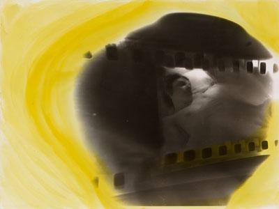 Sigmar PolkeOhne Titel (aus der Serie: Paris), 1971. Gelatinesilberabzug farbig überarbeitet 18 x 23,8 cm